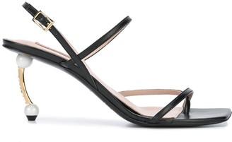 Coliac Embellished-Heel Sandals