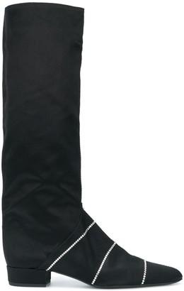 Nina Ricci Crystal Embellished Tall Boots