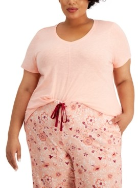 Charter Club Plus Size Pajama Top, Created for Macy's
