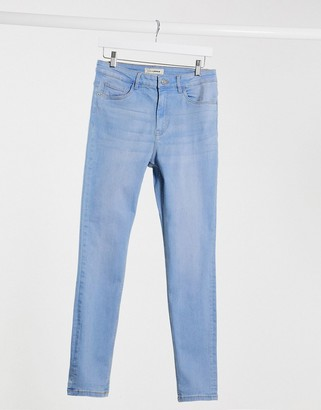 Pimkie sustainable super skinny high waisted jean in light blue