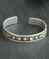 Nautilus Silver-Plated Infinity Symbol Cuff