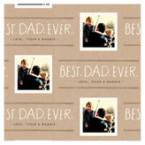 Minted Best Dad Ever Personalized Wrapping Paper