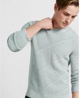 Express Engineered Rib Crew Neck Sweater