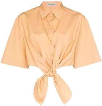 Vika Gazinskaya Tie-Front Cotton Shirt