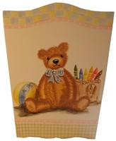 The Well Appointed House Hand Painted Antique Toys Wastebasket