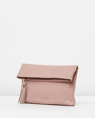 Stitch & Hide - Women's Pink Leather bags - Lily Fold Clutch - Size One Size at The Iconic