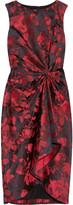 Wonka floral satin-brocade dress