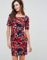 Yumi Floral Front Gathering Dress