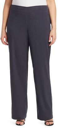 Nic + Zoe, Plus Size Stretch-Linen Pants