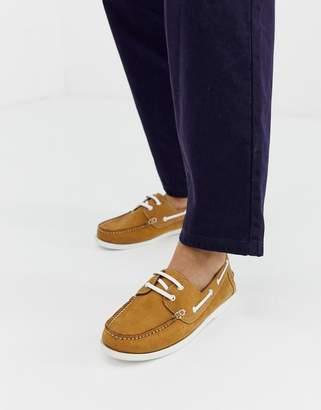 KG by Kurt Geiger Kg Kurt Geiger boat shoes in tan suede