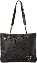 Chanel Black Caviar Leather Large Cc Tote