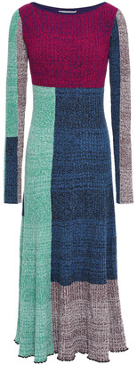 3.1 Phillip Lim Color-block Ribbed-knit Midi Dress