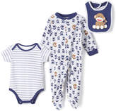 Baby Starters Navy & Gray Sock Monkey Footie Set - Infant