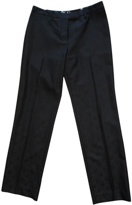 Lucien Pellat-Finet Lucien Pellat Finet Black Wool Trousers for Women