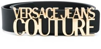 Versace Lettering Logo Buckle Belt