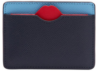 Lulu Guinness Sky/Navy Lip Cut Out Cate Cardholder