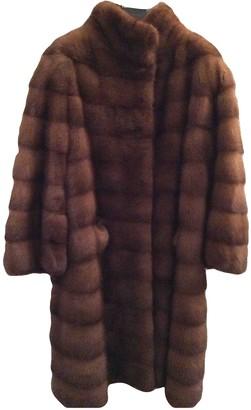 Santi Nello Brown Mink Coat for Women