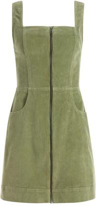Alice + Olivia Renita Zip-Front Mini Dress