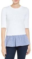 MICHAEL Michael Kors Women's Contrast Hem Cotton Blend Sweater
