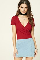 Forever 21 FOREVER 21+ Surplice Knit Top