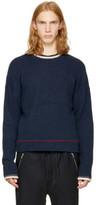 3.1 Phillip Lim Navy Plaited Boxy Sweater