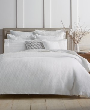 Charter Club Damask Designs Diamond Dot Cotton 300-Thread Count 3-Pc. Full/Queen Duvet Cover Set, Created for Macy's Bedding