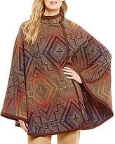 Pendleton Mesquite Sunset Cross Pattern Wool Jacquard Cape