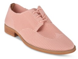 Wanted Women's Perforated Detail Knit Oxford Women's Shoes