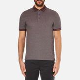 Michael Kors Men's Tipped Birdseye Polo Shirt Burgundy
