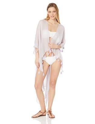 BCBGeneration Women's Long Textured Coverup with Tassels
