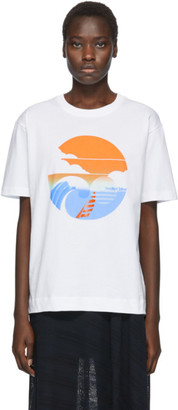 See by Chloe White Wave Logo T-Shirt