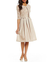 Jessica Howard 3/4 Sleeve Scalloped Trim Lace 2-Piece Jacket Dress