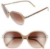 Burberry Women's 57Mm Retro Sunglasses - Beige