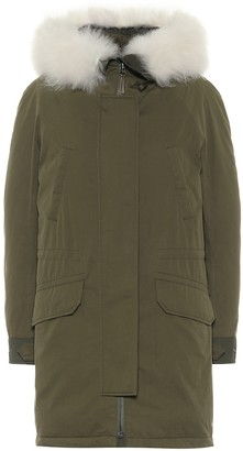 Yves Salomon Army shearling-trimmed cotton-blend down parka