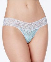 Hanky Panky Dots and Stripes Low-Rise Lace Thong 7W1585