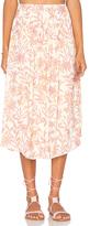 Bobi BLACK Printed Chiffon Maxi Skirt