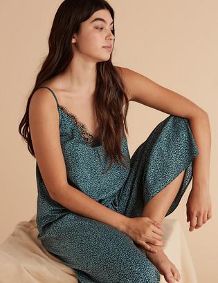 Marks and Spencer Satin Printed Camisole Pyjama Top