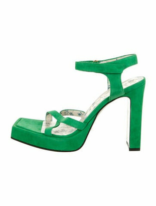 Gucci 2018 Suede Sandals Green