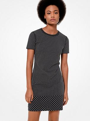 MICHAEL Michael Kors Studded Cotton-Jersey T-Shirt Dress