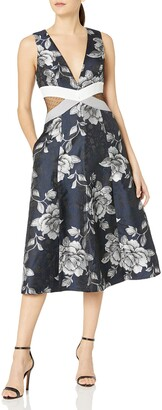 ABS by Allen Schwartz Women's Fit and Flare Floral Dress
