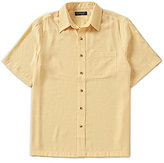 Roundtree & Yorke Big & Tall Short-Sleeve Solid Polynosic Point Collar Sportshirt