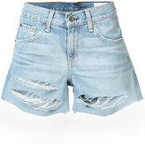 Rag & Bone Jean - ripped denim shorts - women - Cotton - 26