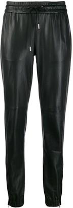 Saint Laurent leather track pants
