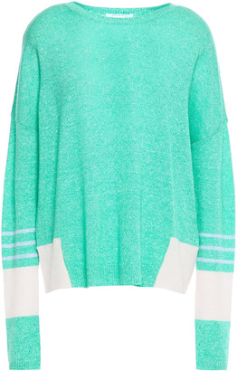 Duffy Striped Cashmere And Linen-blend Sweater