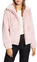 Rachel Parcell Faux Fur Bomber Jacket
