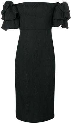 ALEXACHUNG Puff Sleeve Dress