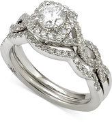 Marchesa Certified Diamond Bridal Set (1 ct. t.w.) in 18k White Gold