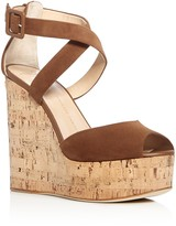 Giuseppe Zanotti Roz Crisscross Platform Wedge Sandals