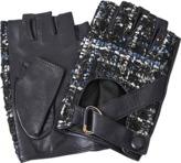 Karl Lagerfeld K Tweed fingerless gloves
