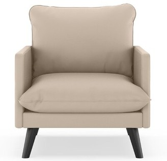 "Corrigan Studio Cragin 25.25"" Armchair Fabric: Ivory Faux Leather"